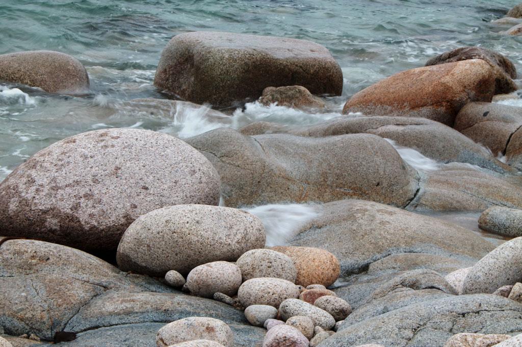 Kiesel am Strand von Ouessant