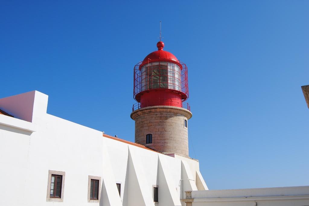Er lockt schon von Ferne - der Leuchtturm bei Cabo da Sao Vicente bei Sagres.