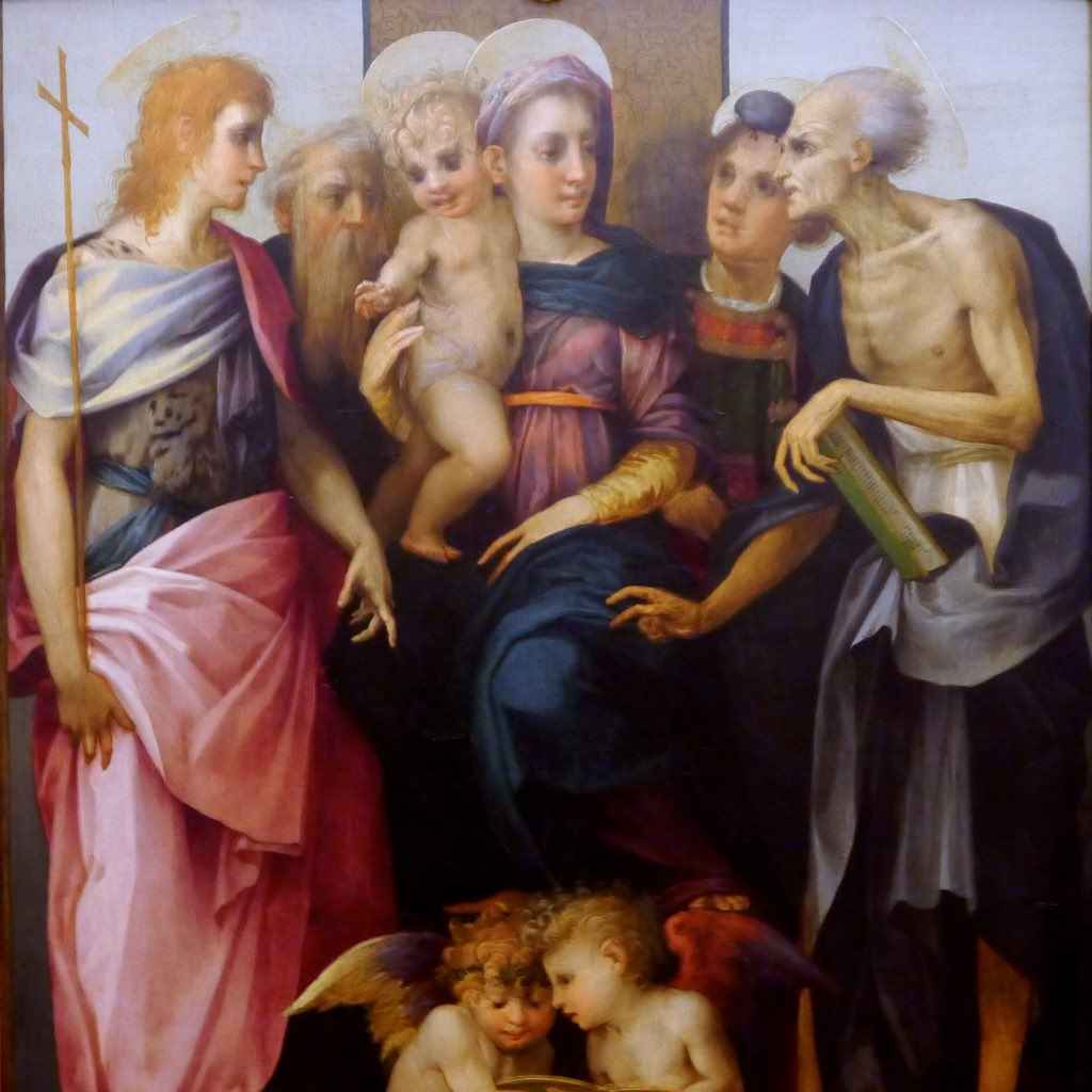 Rosso Fiorentino, Madonna mit Kind und vier Heiligen