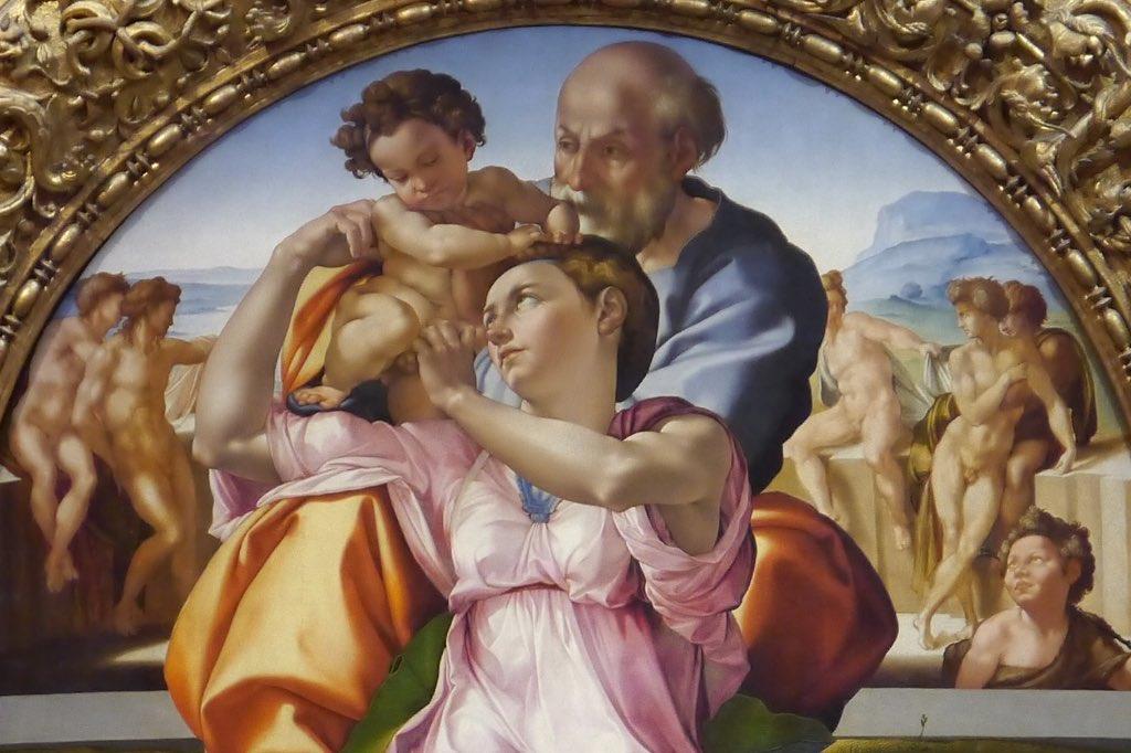Gemälde von Michelangelo in den Uffizien.