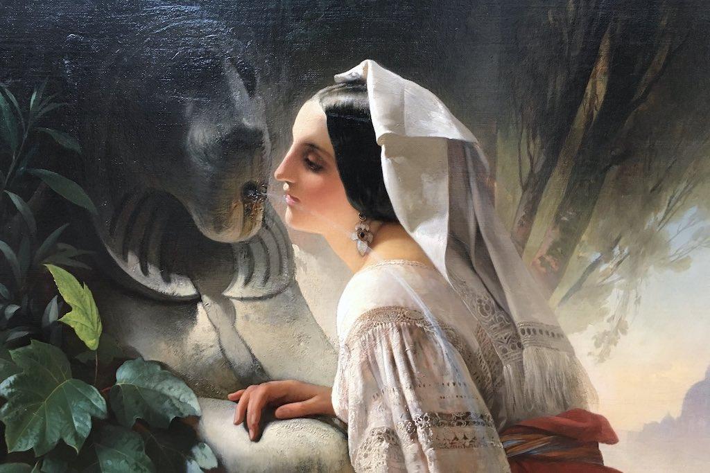 Frau am Brunnen ein Gemälde aus dem KUMU in Tallinn.