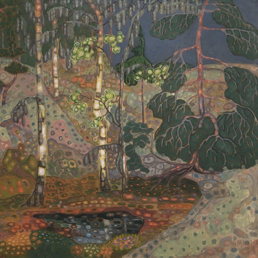 Jugenstilbild einer nordischen Landschaft im Kunstmuseum von Tallinn.