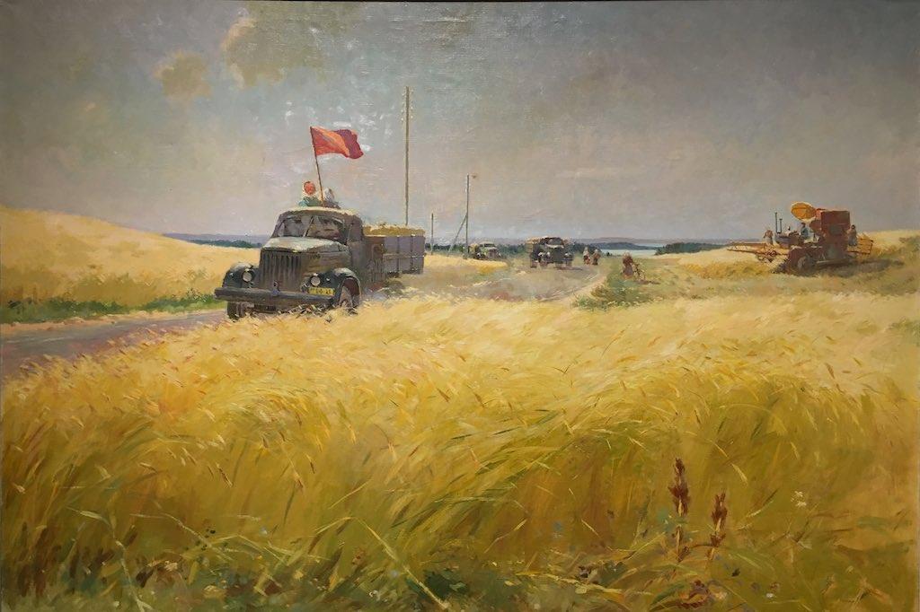 Getreide für den Staat Magischer Sozialistischer Realismus von Viktor Karrus.