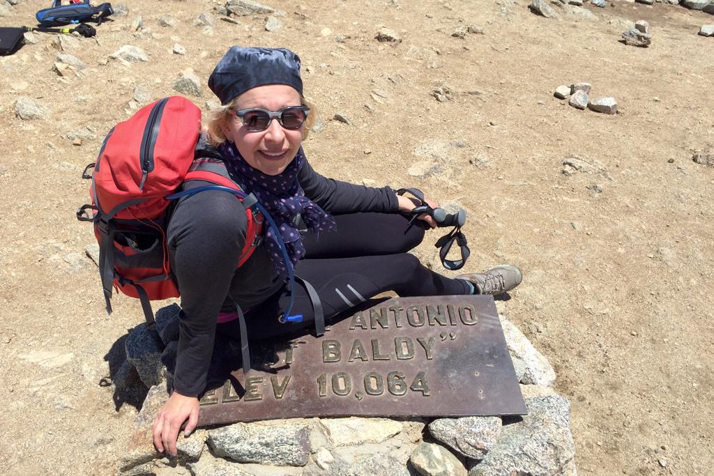 Üben für Mount Whitney! Hier am Mount San Antonio, auch bekannt als Old Baldy oder Mt. Baldy, 3069m. (c) Robert M. Plogman 2015
