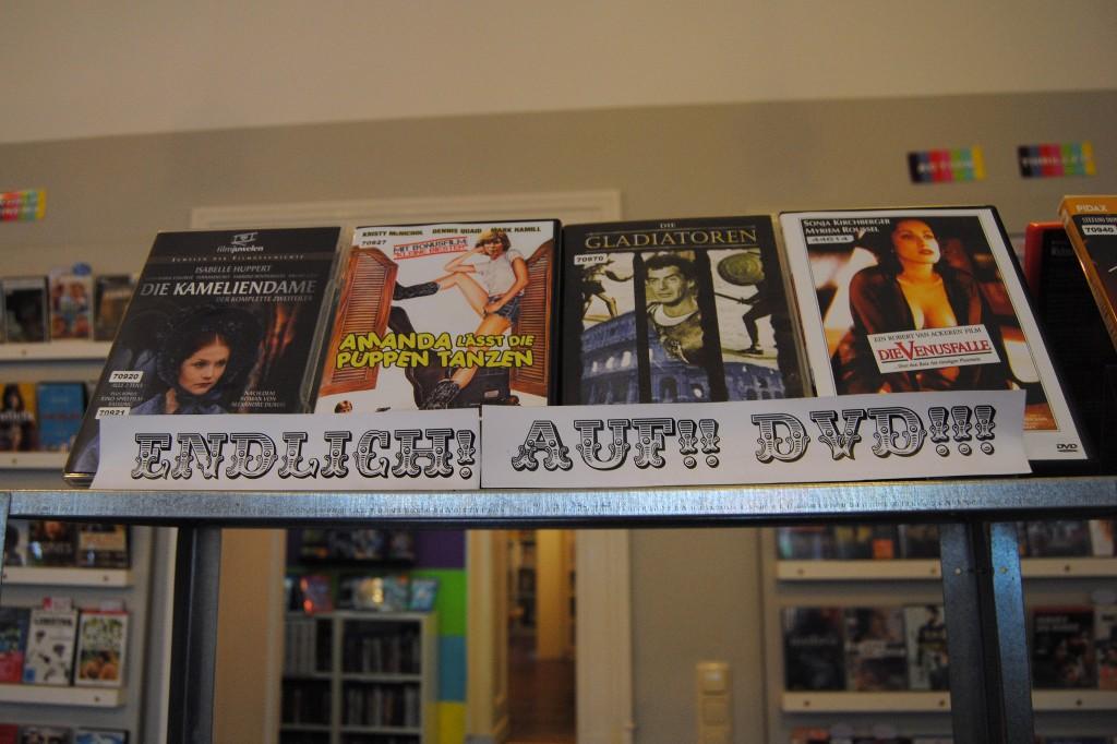 Werbung für DVD Verleih.