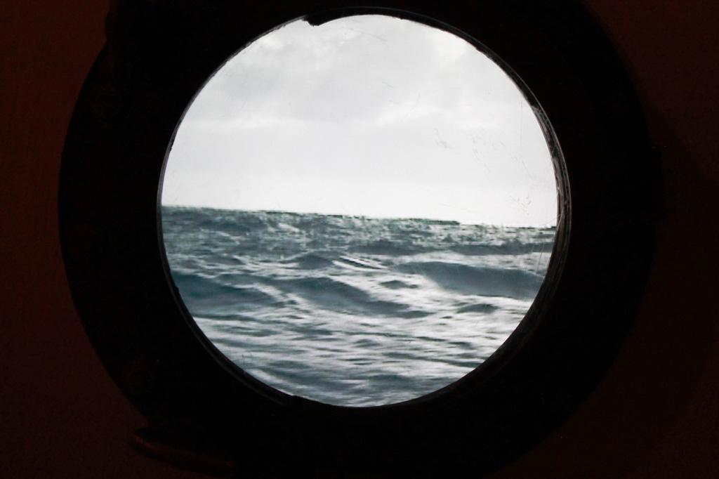 Wir Auswanderer: Simulierter Blick aus einem Bulleye der dritten Klasse