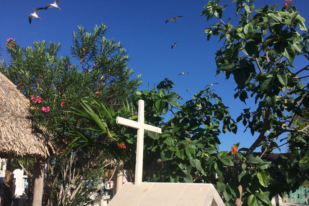 Friedhof in Isla Holbox, Mexiko.