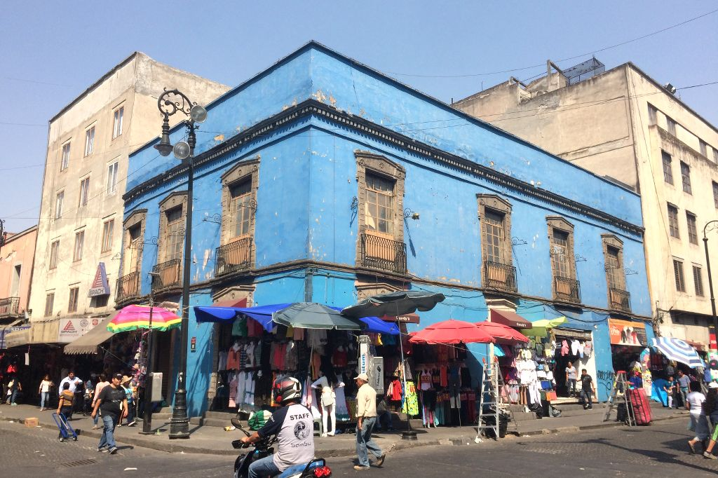 Mexiko-Stadt, Straßenszene im Centro Historico.