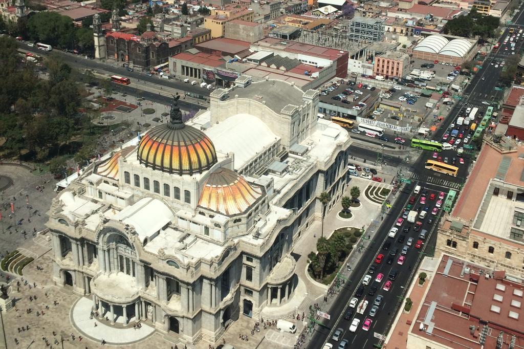 Der Palast der schönen Künste in Mexiko Stadt.