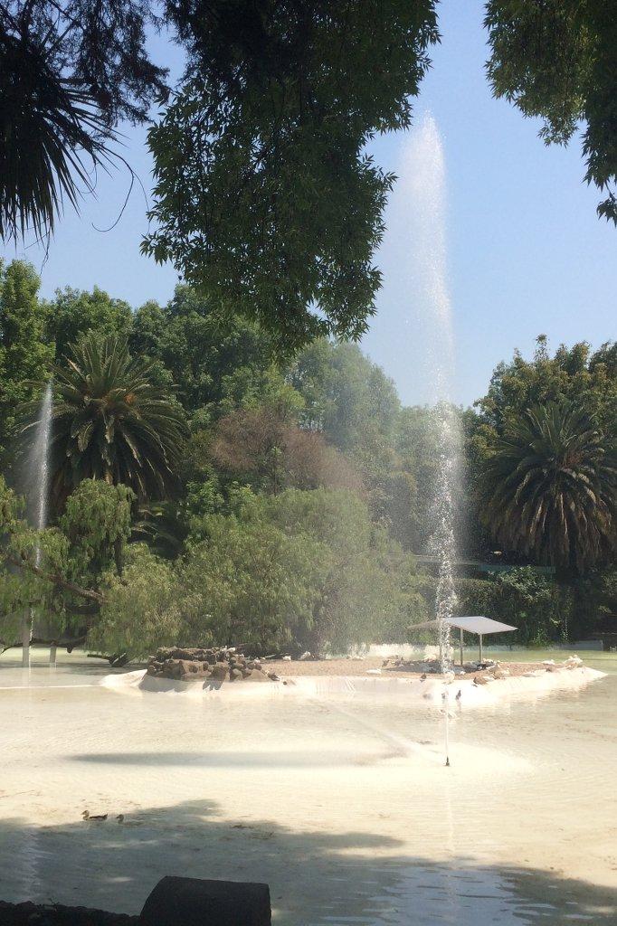 Springbrunnen im Parc Mexico in Mexiko Stadt.
