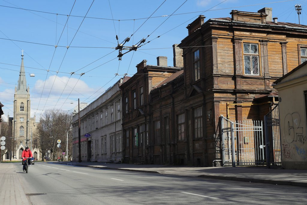 Holzhaus in Riga.