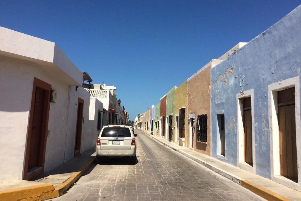 Straße in Campeche.