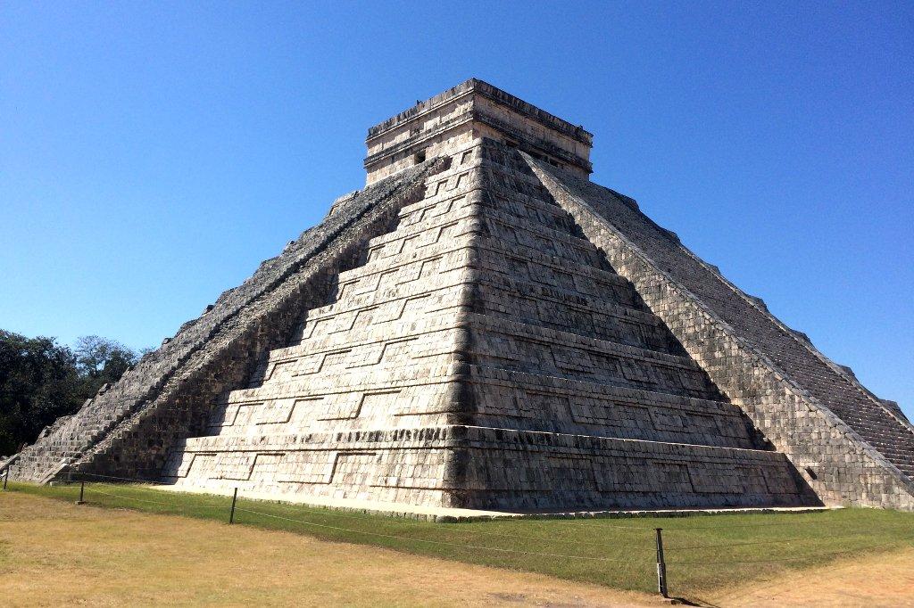 Maya Pyramide in Mexiko.
