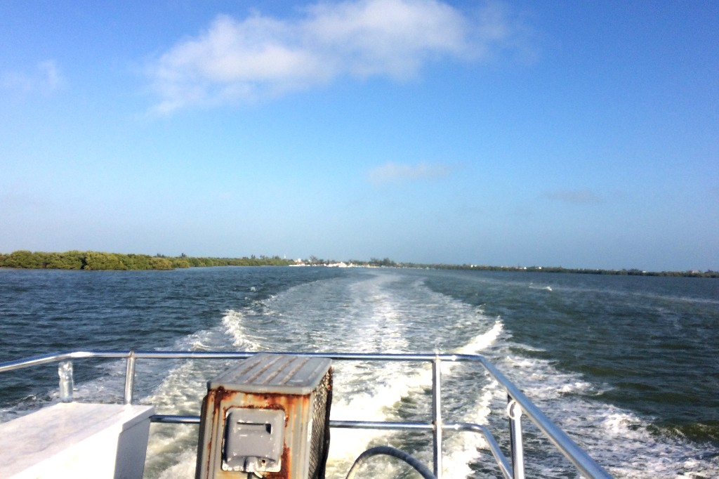 Mit dem Boot zur Halbinsel Yucatán.