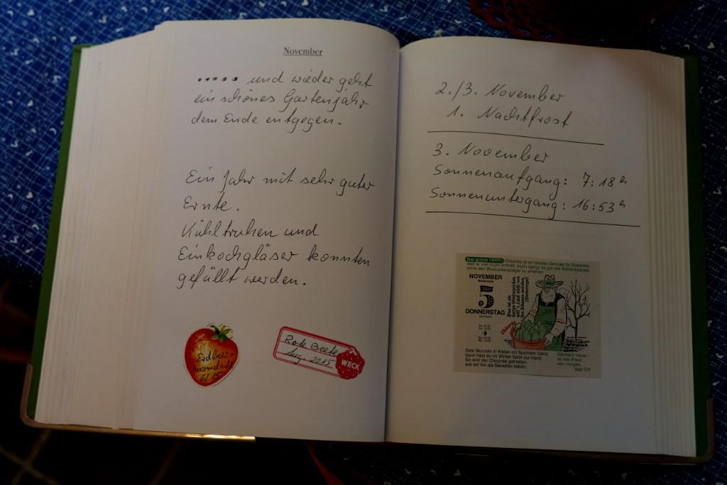 Aufgeschlagenes Tagebuch während der Skulptur Projekte Münster 2017.