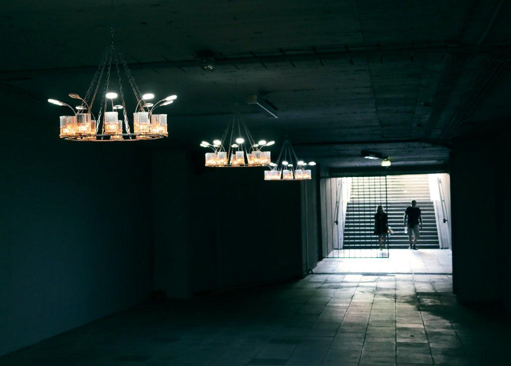 Unterführung am Schlossplatz Ausstellungsfläche für die Skulptur Projekte Münster.