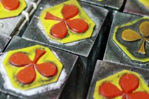 Spielkartenfabrik: Druckstöcke Kreuz