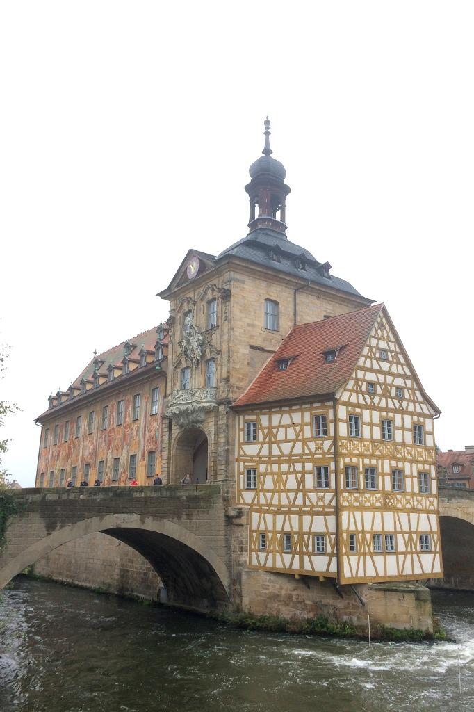 Das Rathaus von Bamberg.
