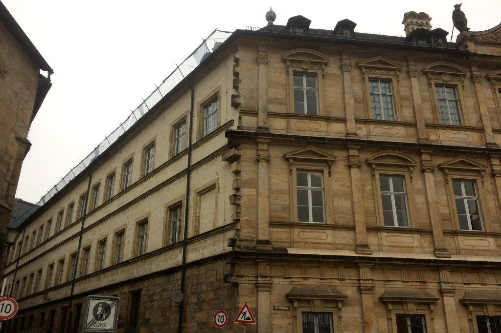 Fassade der alten Residenz in Bamberg