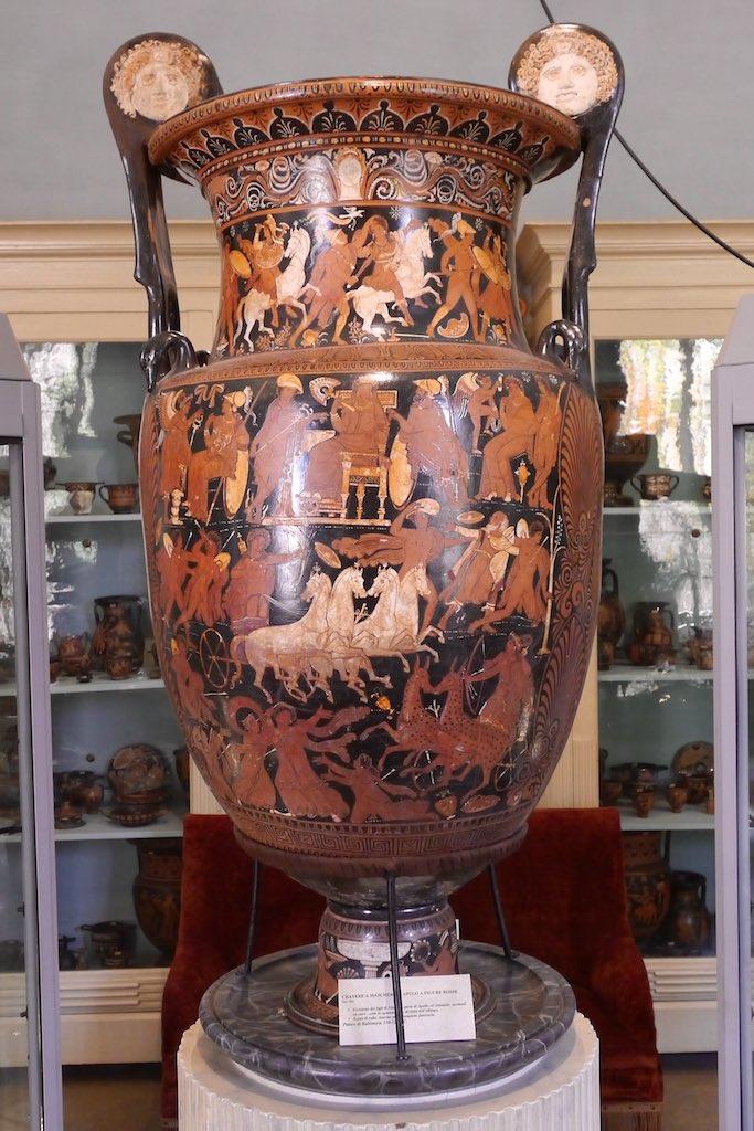 Großer Mischkrug aus dem Museum Jatta mit der Ermordung der Niobiden.