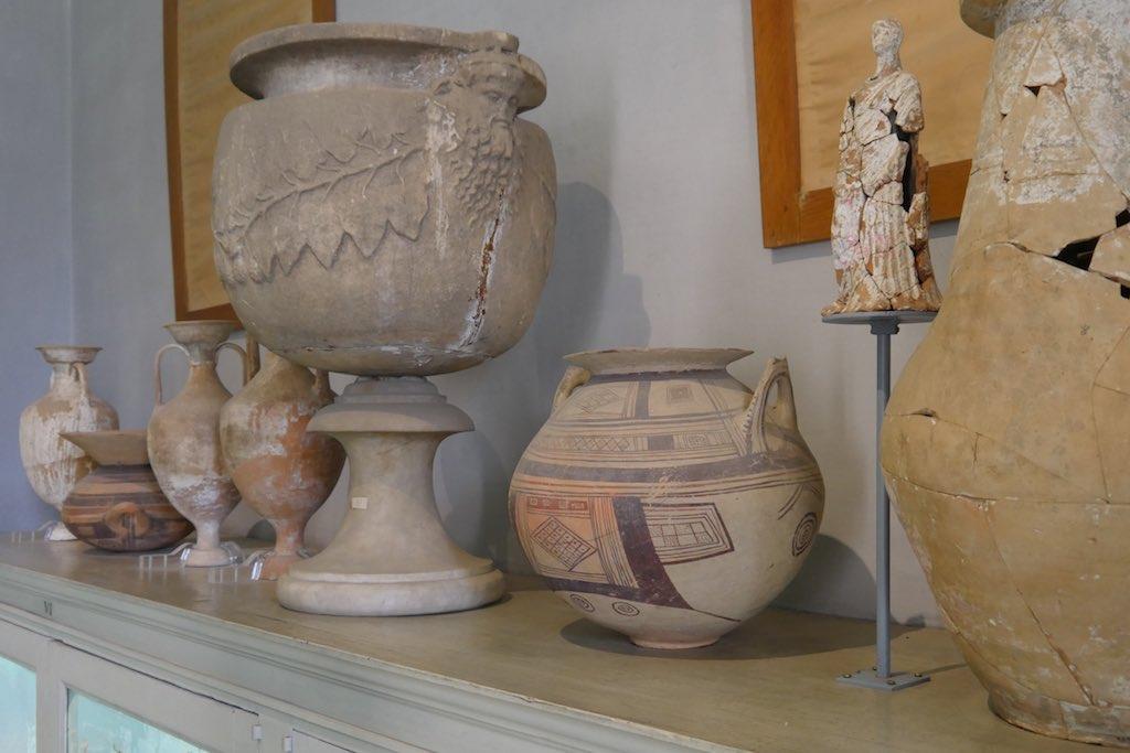 Archaische Vasen im Museum Jatta.