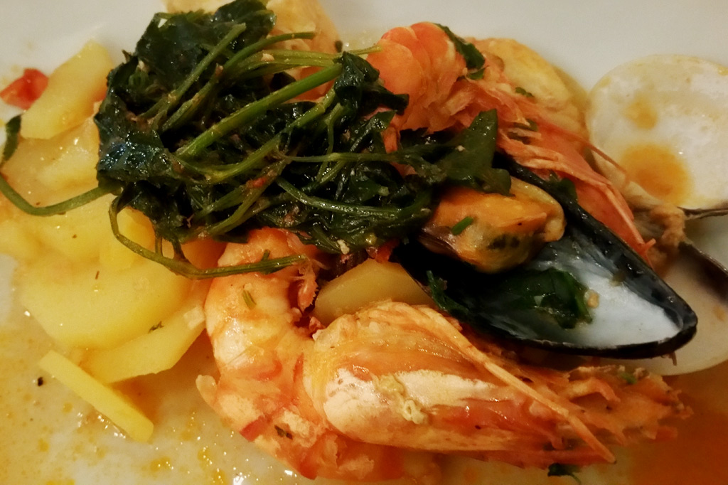 Delikatessen: Meeresfrüchte nach Azorenart