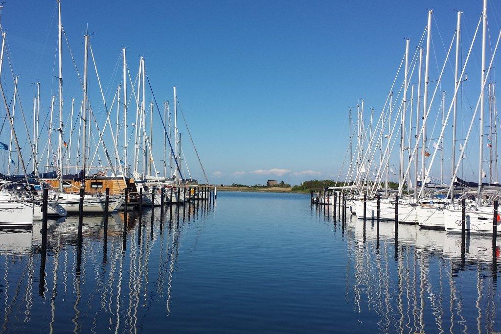 Die Marina von Heiligenhafen.