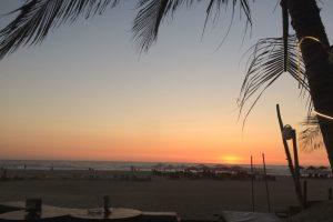 Chillen beim Sonnenuntergang.