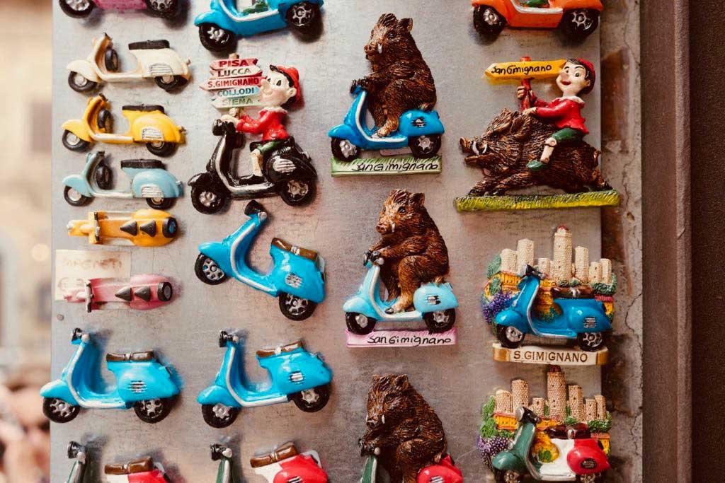 Souvenirs aus San Gimignano.