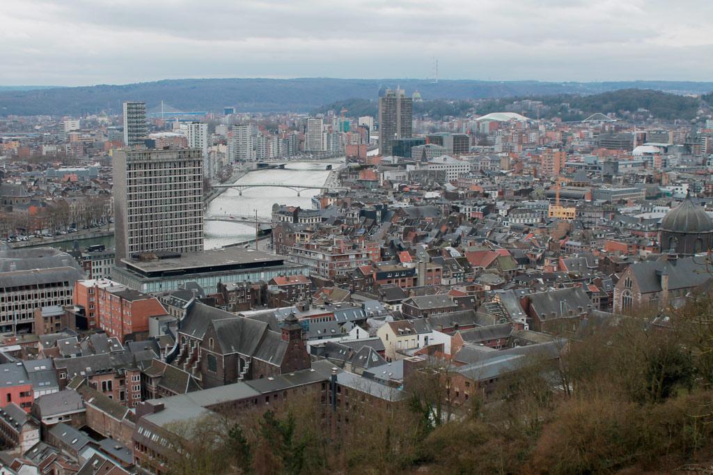 Blick über Lüttichs Altstadt.