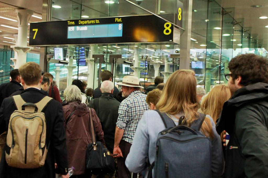 Zugreise nach London: 5 Gründe für den Eurostar - Boarding im Londoner Eurostar-Trakt von St. Pancras
