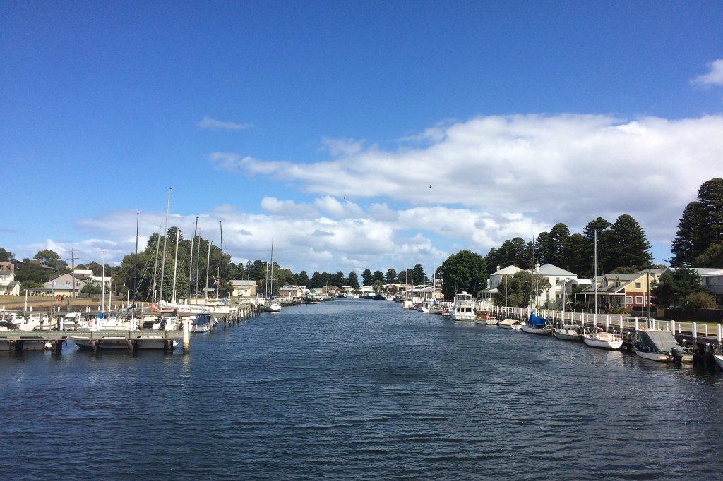 Die Marina von Port Fairy in Australien.