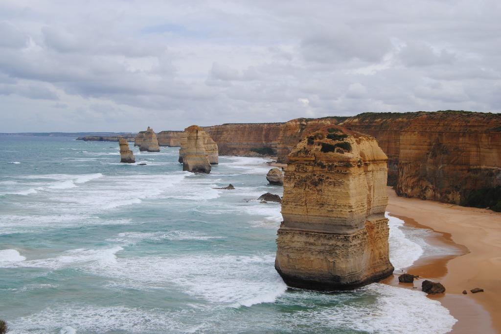 Twelve Apostles Sandstein Formationen an der Küste.