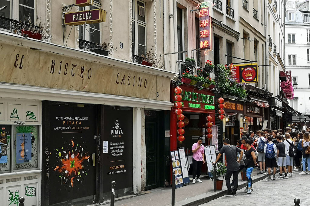 Tagesausflug: Mal eben im Thalys nach Paris – Internationale Restaurants in der Rue de la Harpe, Paris
