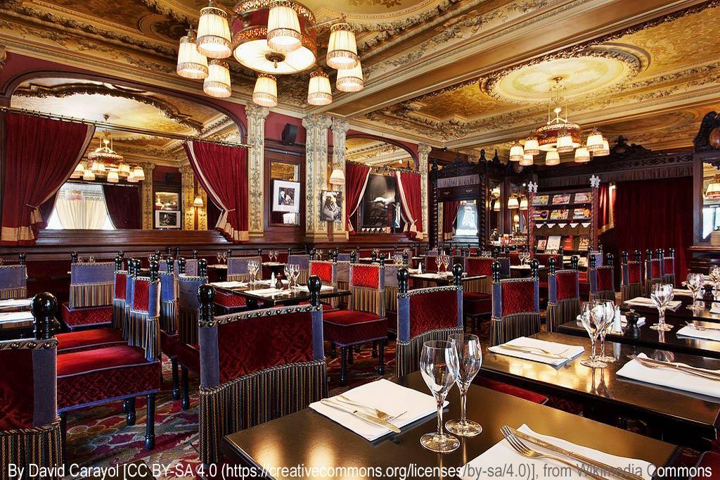 """Tagesausflug: Mal eben im Thalys nach Paris – Gediegen-großbürgerliches Interieur der traditionsreichen Brasserie """"Le Zimmer"""", Paris"""