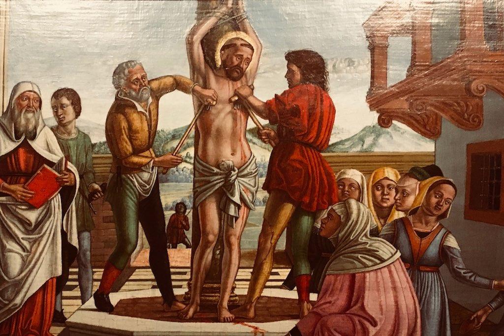 Das Martyrium des Heiligen Blaise.