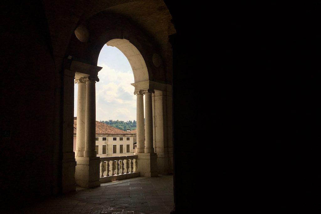 Die Galerie der Basilika Palladiana.