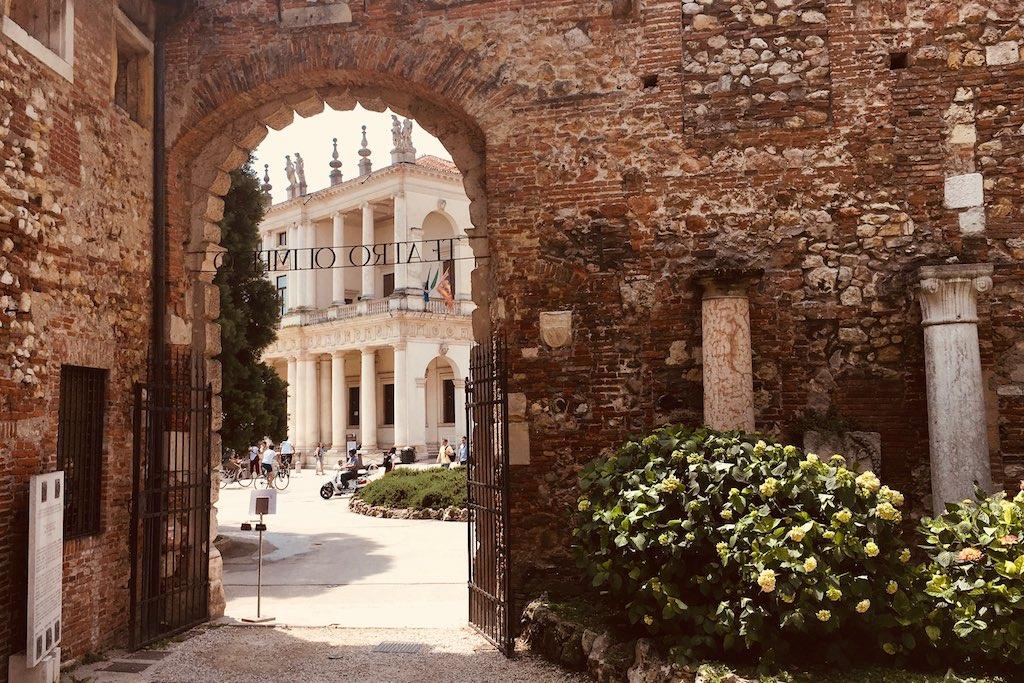 Blick auf eine Palast in Vicenza entworfen von Andrea Palladio.