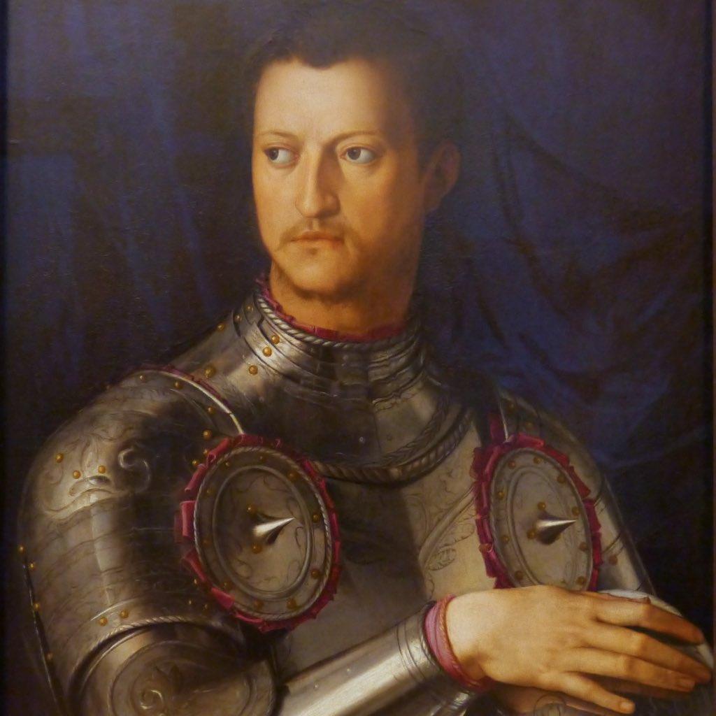 Porträt von Cosimo I von Agnolo Bronzino aus den Uffizien in Florenz.