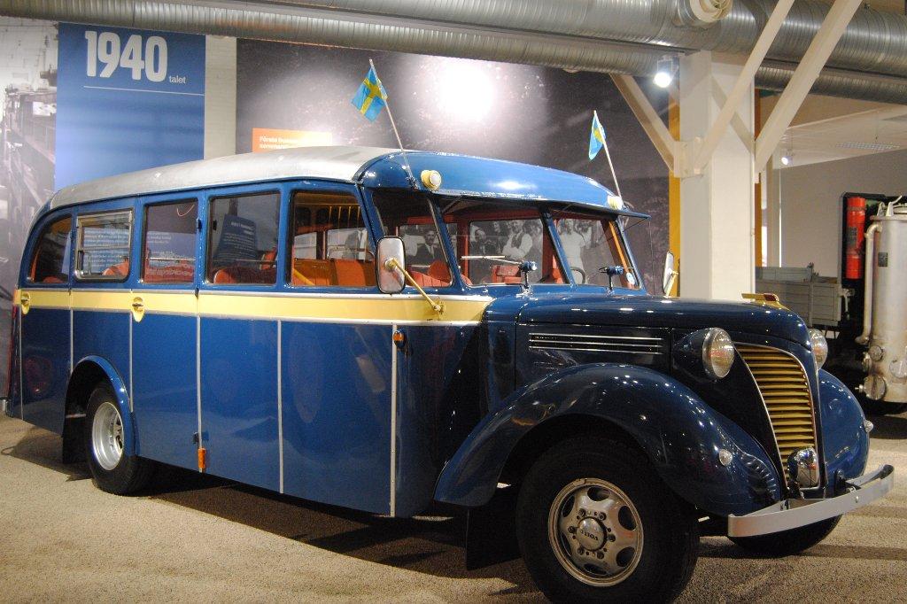 Schulbus im Volvo Museum Göteborg.