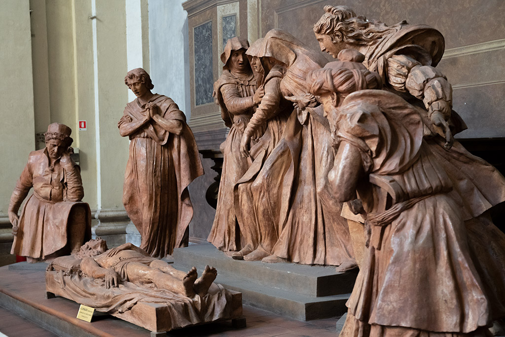 Beweinung Christi aus Ton von Alfonso Lombardi.