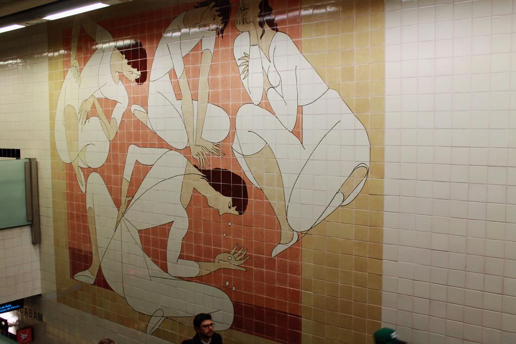 Azulejos-Kunst in der Lissabonner U-Bahn, aus: Lissabon Tipps: 5 Museen für Deinen Städtetrip