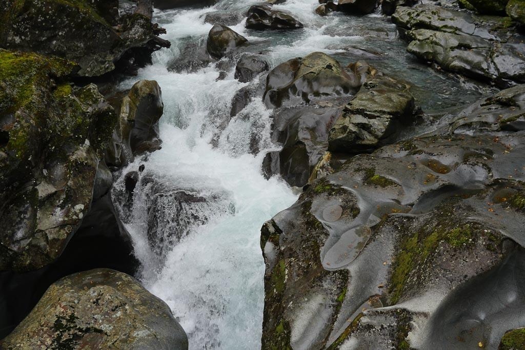 Gletschermühle, The Chasm, im Fiordland Nationalpark.