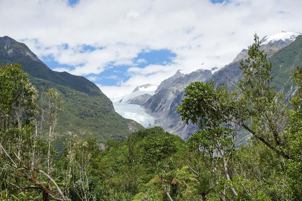 Der Franz Josef Gletscher in den Südalpen von Neuseeland.