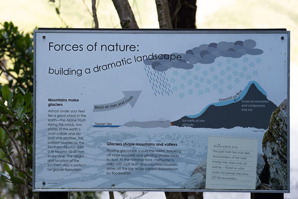 Schema, das die Bildung von Gletschern in den Südalpen Neuseelands erklärt.