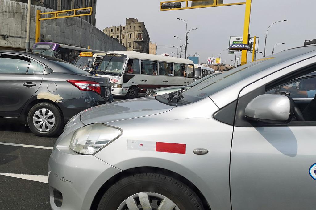 Stau in Lima