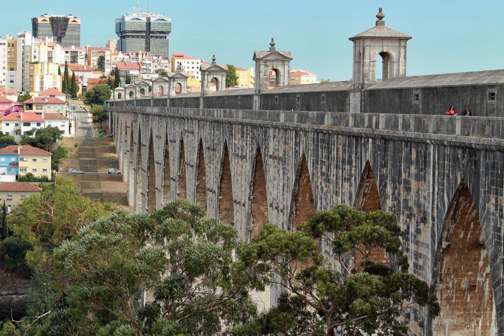 Der Auädukt Águas Livres in Lissabon: für Google Touringbird eines der versteckten Highlights der Stadt
