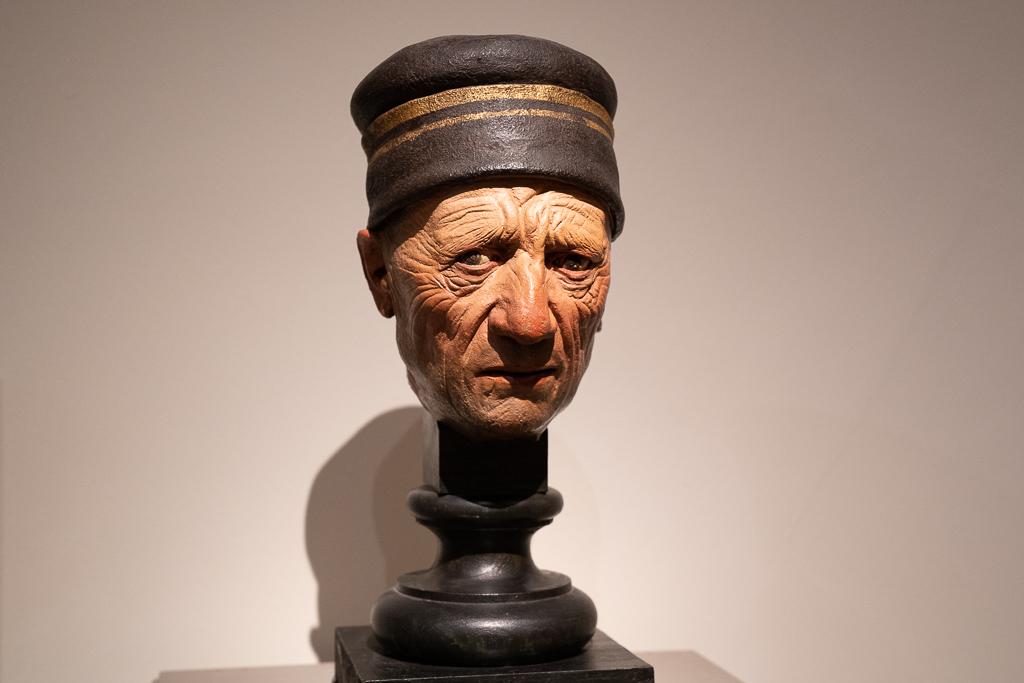 Büste eines alten Mannes in Terracotta aus der Galeria Estense.