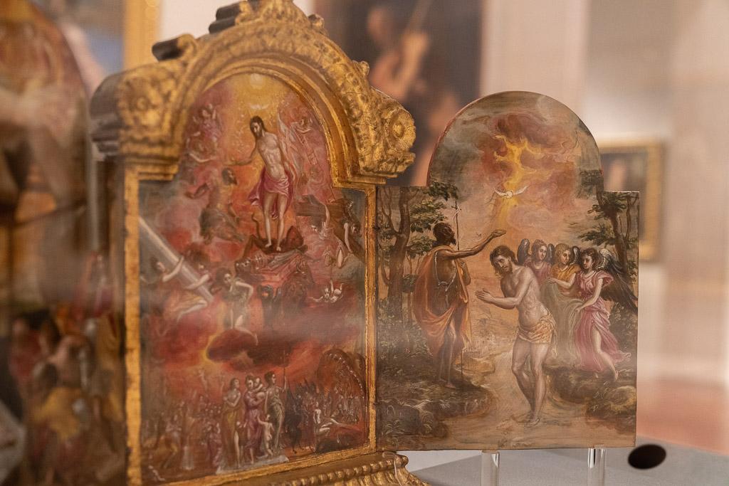 Miniatur-Altar in der Galerie Estense in Modena.