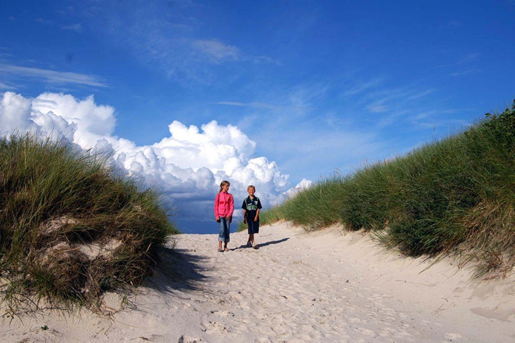 Dünenwanderung auf Helgoland.